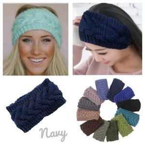 Accessories - Navy Blue Knitted Headband